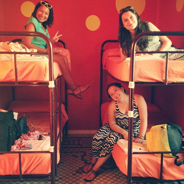 My friends and I had a blast during our first hostel experience in Valencia. (Photo courtesy of Aly Nagel)