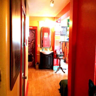 The main hallway inside of the hostel was very welcoming.
