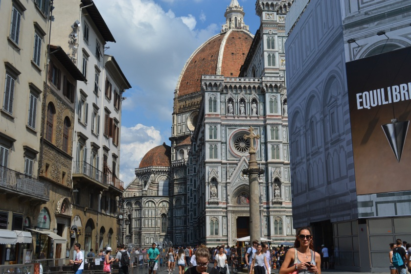 The Duomo was so big, it was actully hard to see all of it from the ground.