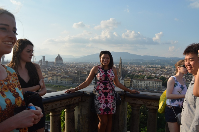 Here's one of me and the Florentine skyline!