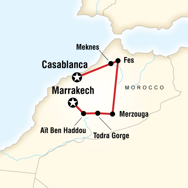 Morocco Tour Map