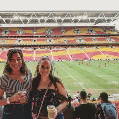 My first Australian Rugby game!